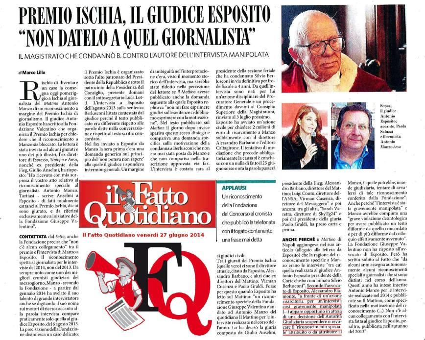 Il Fatto Quotidiano - Premio Ischia (Esposito)