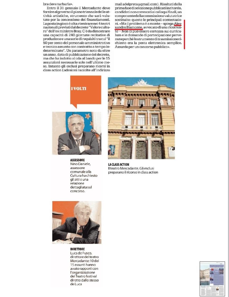 Repubblica 21-1-2015 pag. 6 Mercadante
