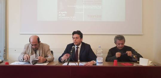 con i professori Mauro Calise. Giorgio Ventre e Michele Mezza